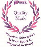 Quality mark logo physical education school sport physical activity 2019 268x300
